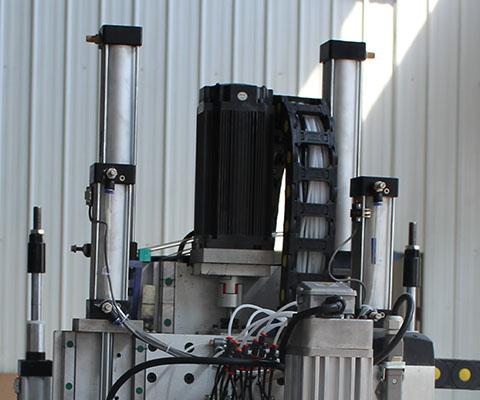 双工位加排钻加自动上下料 Z轴气缸