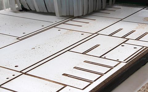 木工加工中心开料开槽效果